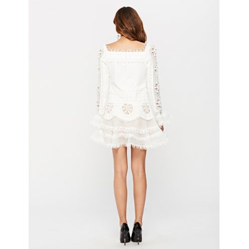 Luxury Embroidered Lace Fishtail Horn Sleeve Dress K249 12