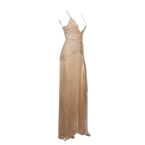 Sexy Embroider Strap Tassel Floor Length Dress K248 20