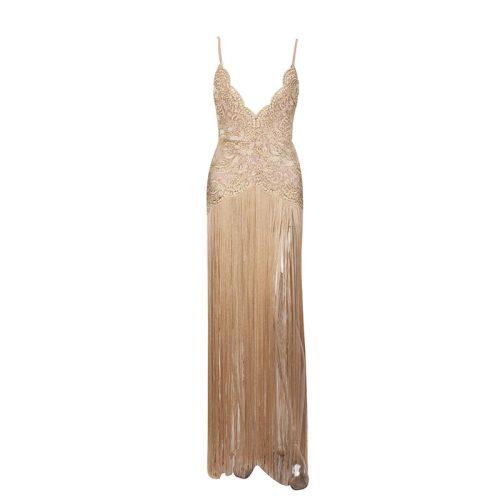 Sexy Embroider Strap Tassel Floor Length Dress K248 22