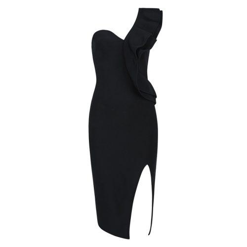 FOLD THE SLEEVE ONE SHOULDER BANDAE DRESS K295 5