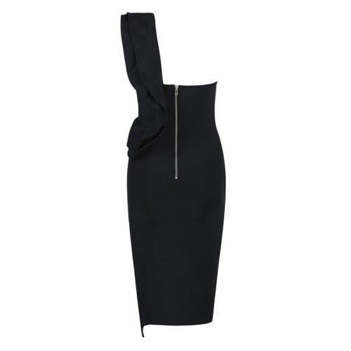 FOLD THE SLEEVE ONE SHOULDER BANDAE DRESS K295 6