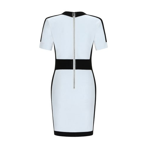 Black Stripe Bandage Dress K342 7