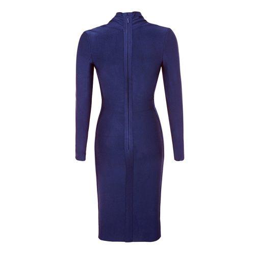 Deep V Long Sleeve Bandage Dress K319 1