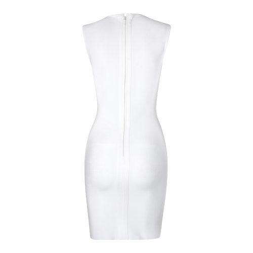 Golden Lace Hollow Out Bandage Dress K316 3