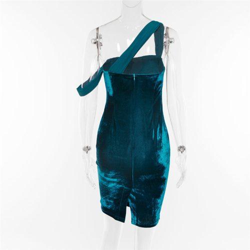 Teal Suede Strap Dress K322 15