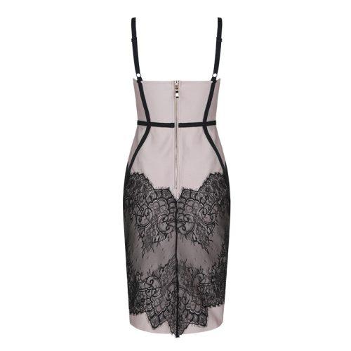 Black Stripe Bandage Dress K355 8