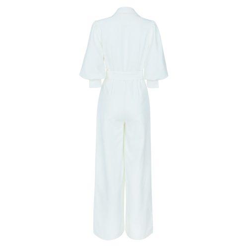 Elegant White Jumpsuit K399 1