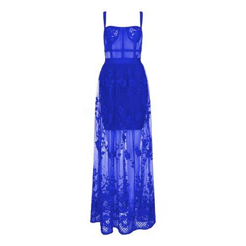 Lace Embroider Bandage Maxi Dress K354 36