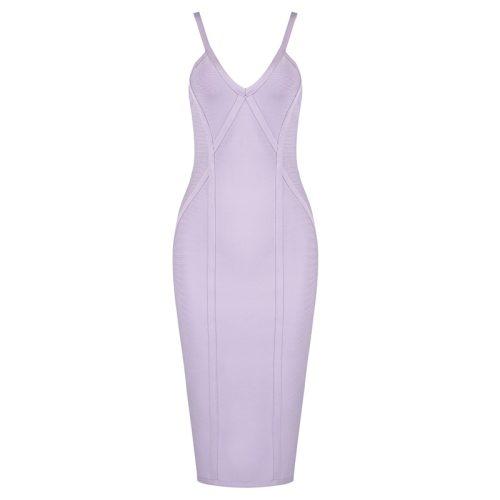 Light Purple Strap Bandage Dress K393 12