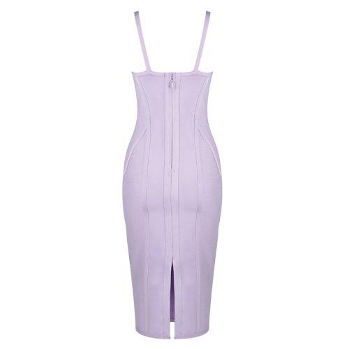 Light Purple Strap Bandage Dress K393 14
