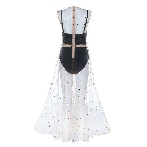 Sexy Mesh Maxi Dress Set K36421