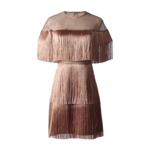Tassel Mesh Mini Dress K349 12