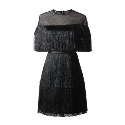 Tassel Mesh Mini Dress K349 13