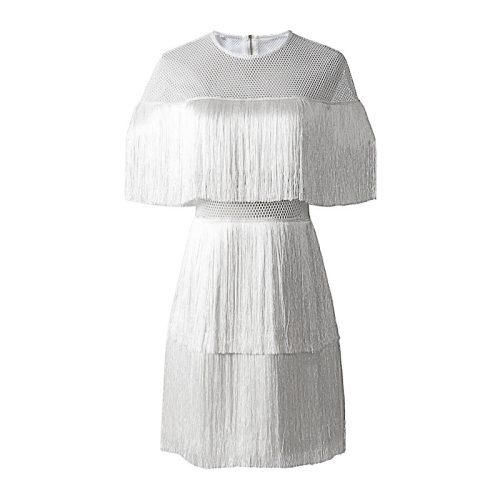 Tassel Mesh Mini Dress K349 2