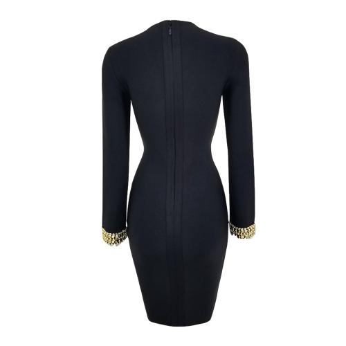 Beaded-Neck-Line-Bandage-Dress-K439-2