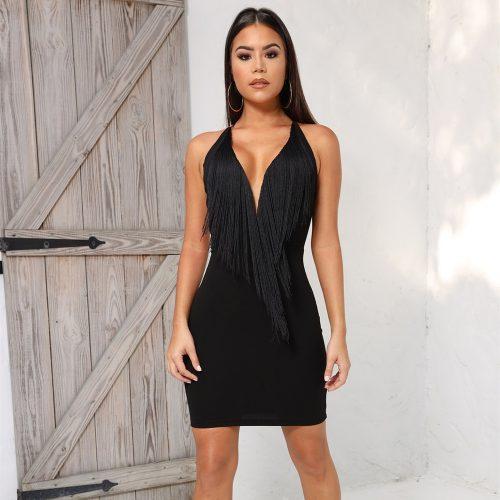 Tassel-Neck-Strap-Bandage-Dress-K451-19