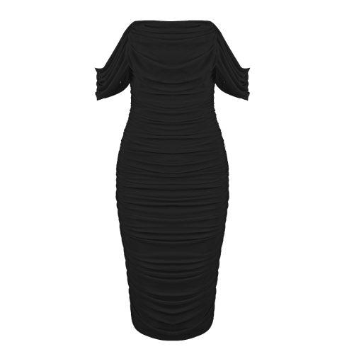 Gathered-Oranza-Mesh-Off-Shoulder-Bandage-Dress-K454-12