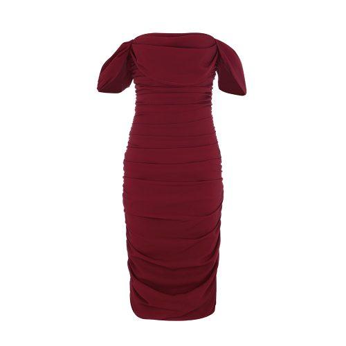 Gathered-Oranza-Mesh-Off-Shoulder-Bandage-Dress-K454-18