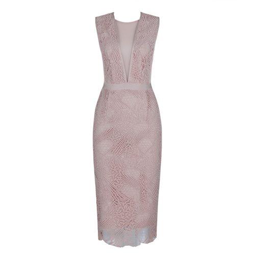 Lace-V-Neck-Mesh-Bandage-Dress-K455-9