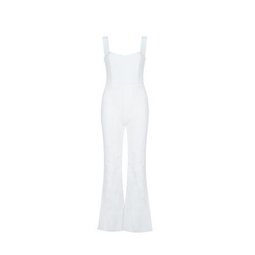 Strap-Jumpsuit-Split-Bottom-K45770