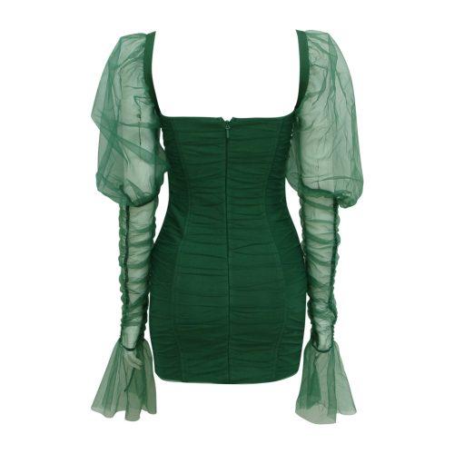 Gathered-Oranza-Mesh-Long-Sleeve-Dress-K469-3