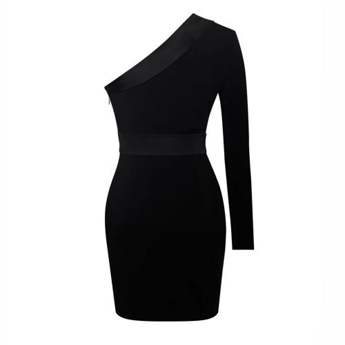 Sequin-Irregular-Sleeve-Dress-K47120