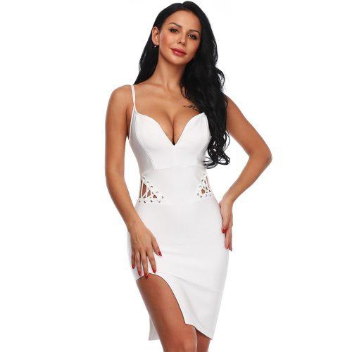 Strap-Bandage-Lace-up-Split-Dress-K481-3