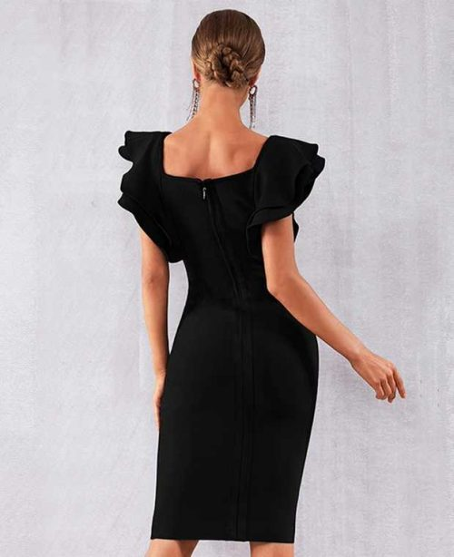The-butterfly-Sleeves-Bandage-Dress-K483-11