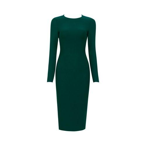 Backless-Long-Sleeve-Bandage-Dress-K505-2