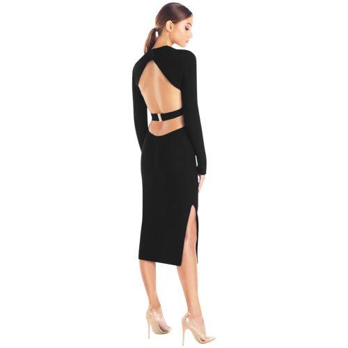 Backless-Long-Sleeve-Bandage-Dress-K505-4