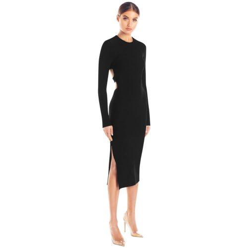 Backless-Long-Sleeve-Bandage-Dress-K505-5