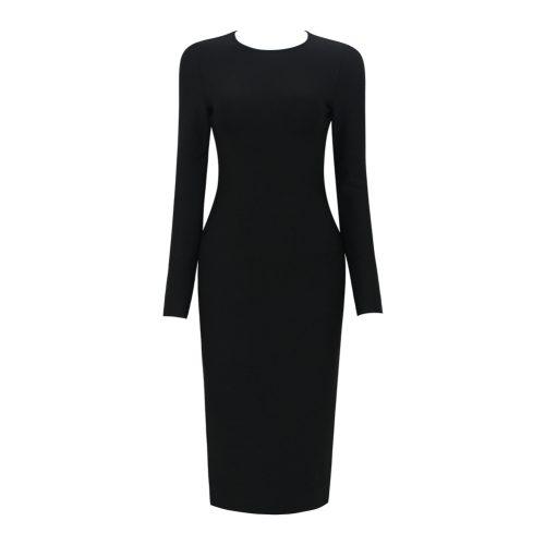 Backless-Long-Sleeve-Bandage-Dress-K505-9