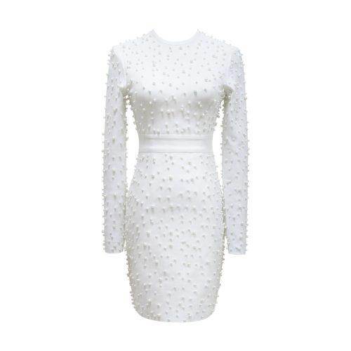 White-Beaded-Bandage-Dress-K507-17