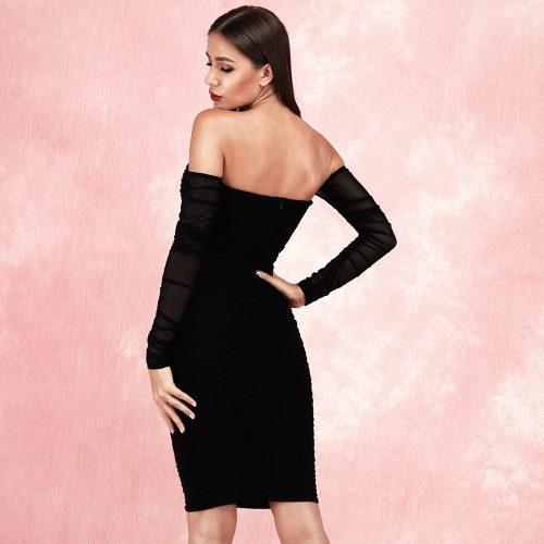 Gathered-Oranza-Off-Shoulder-Dress-K520-7