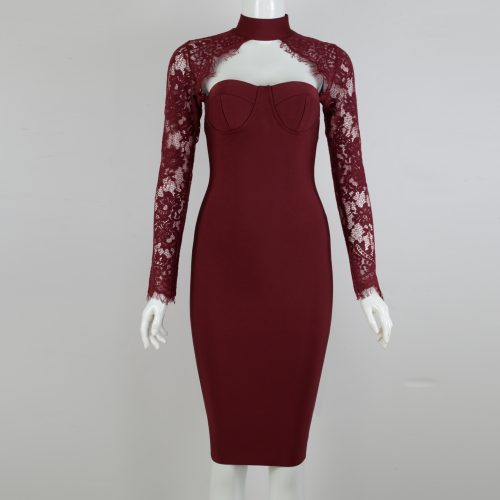 Long-Sleeve-Lace-Bandage-Dress-K566-13
