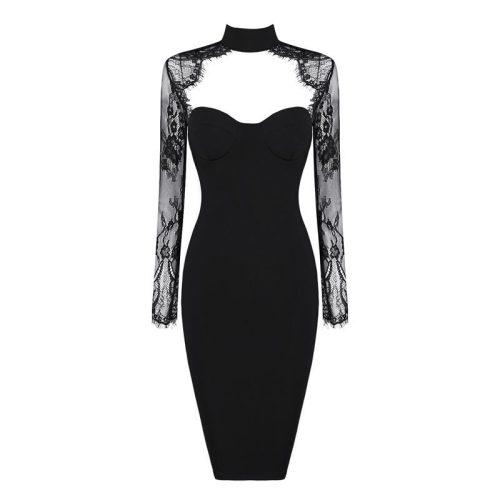Long-Sleeve-Lace-Bandage-Dress-K566-6