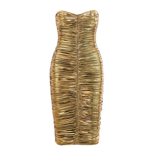 Metallic-Gold-Ruched-Dress-K555-3