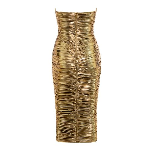 Metallic-Gold-Ruched-Dress-K555-4