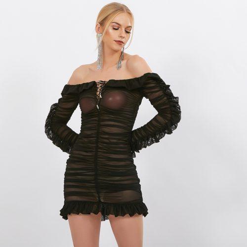 Black-Mesh-Ruched-Dress-K594-21