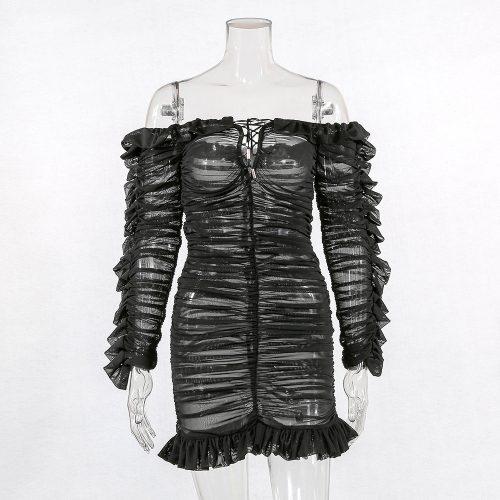 Black-Mesh-Ruched-Dress-K594-26