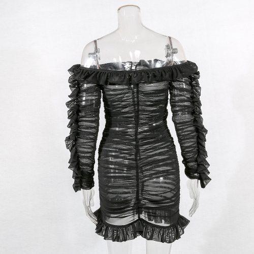 Black-Mesh-Ruched-Dress-K594-28