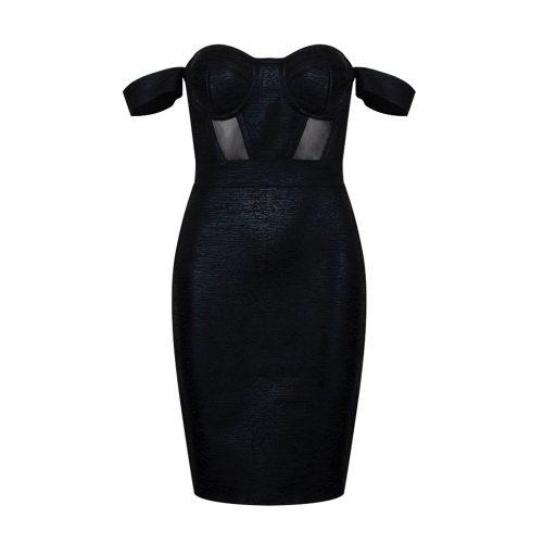Metallic-Off-Shoulder-Bandage-Dress-K714-10