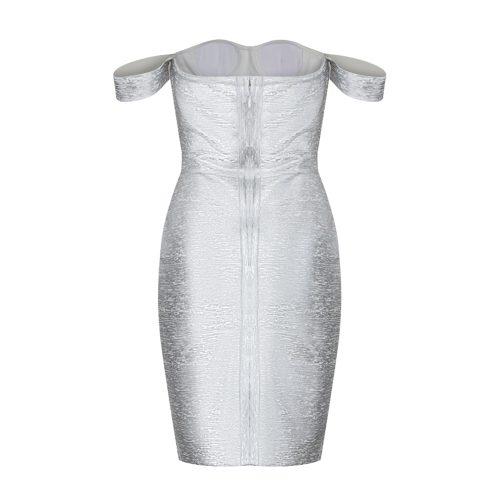 Metallic-Off-Shoulder-Bandage-Dress-K714-11
