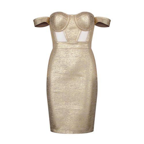 Metallic-Off-Shoulder-Bandage-Dress-K714-14