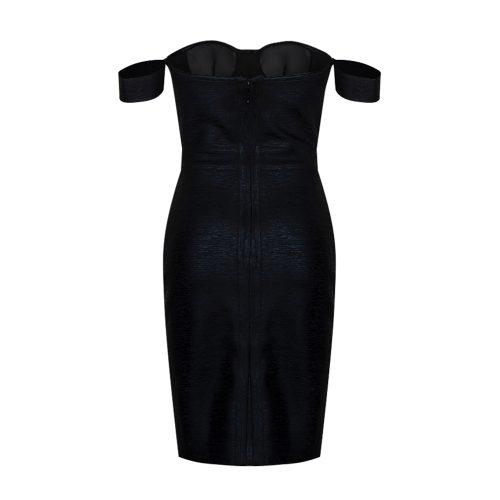 Metallic-Off-Shoulder-Bandage-Dress-K714-6