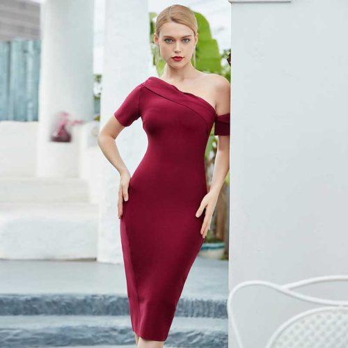 One-Shoulder-Bandage-Dress-K722-1