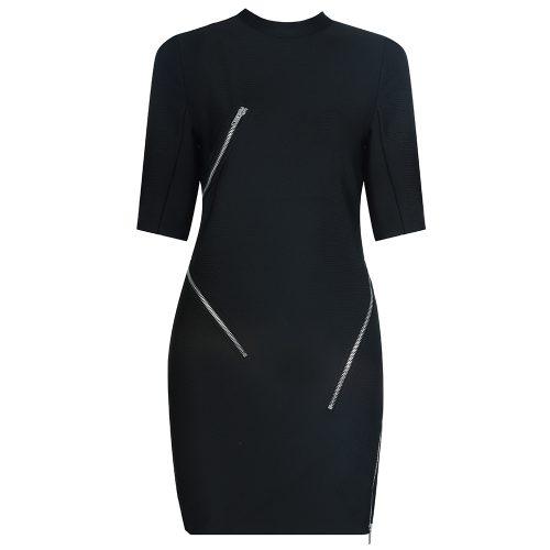 Zipper-Split-Bandage-Dress-K733-1