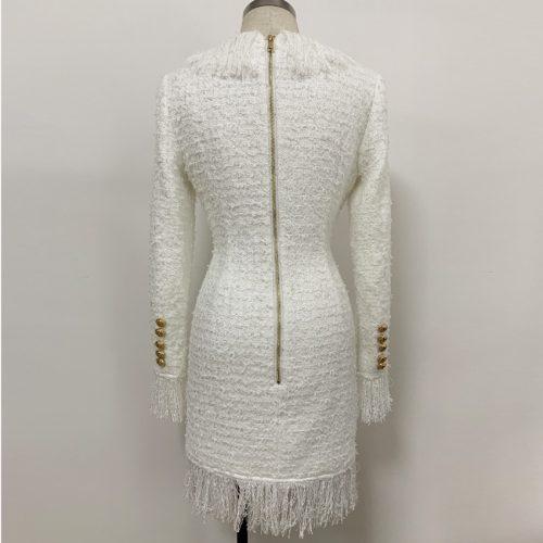 Black-Fringed-Dress-with-Gold-Check-Blazer-Dress-K680-4