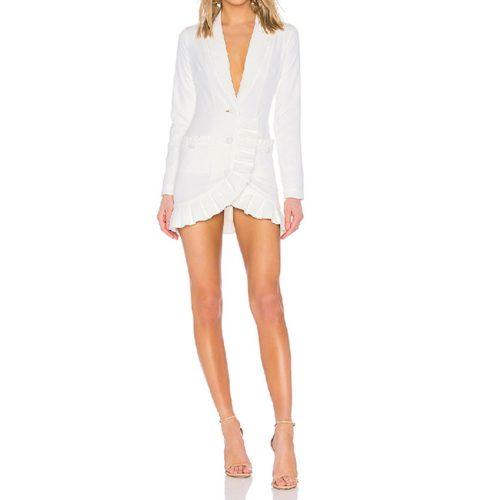 Deep-V-Folding-Blazer-Mini-Dress-K656-5