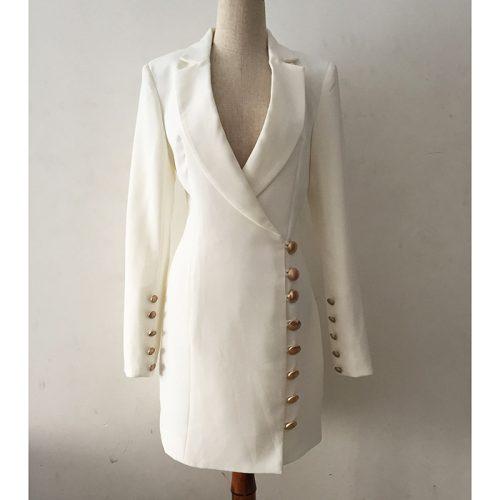 Deep-V-Gold-Buttons-Blazer-Mini-Dress-K651-6